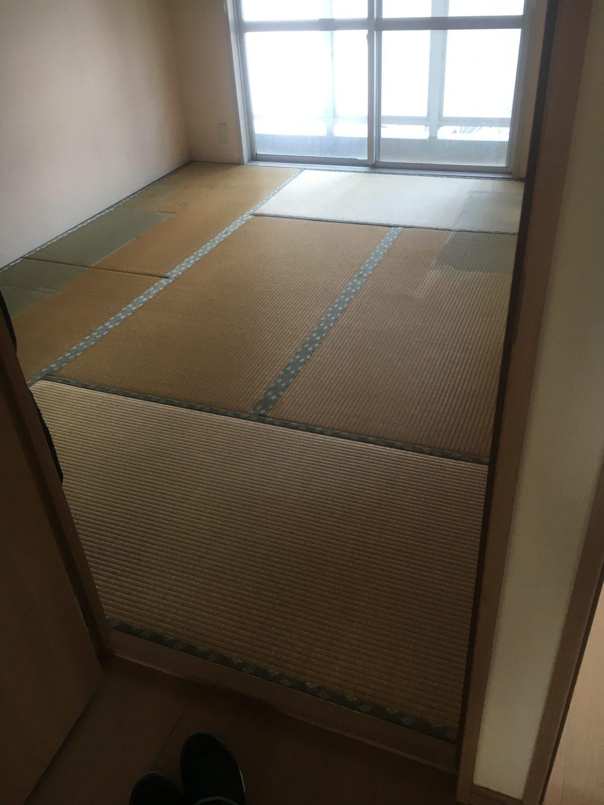 畳をフローリングに変更 1